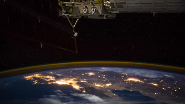 ISS Over Southwestern US and Mexico - Timelapse