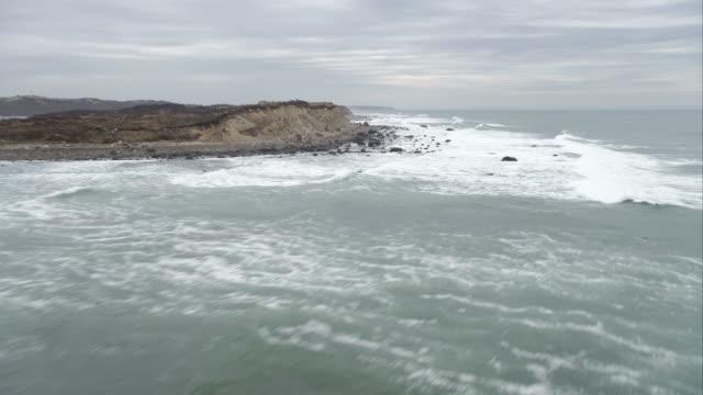 Over surf along the coast of Cuttyhunk Island, Massachusetts. Shot in November 2011.