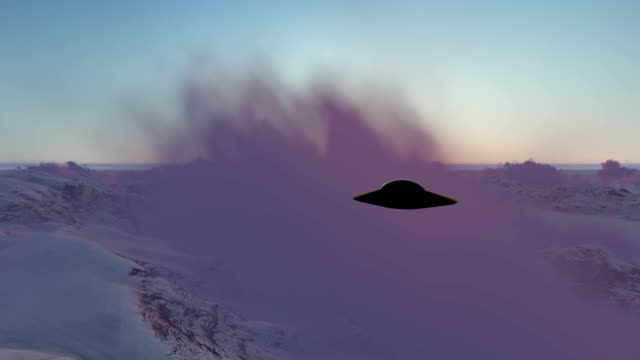 ufo over the mountains in the clouds - science fiction film stock videos & royalty-free footage