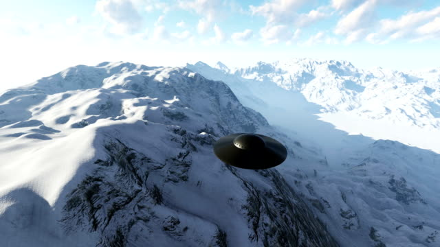 ufo over the mountains - saucer stock videos & royalty-free footage
