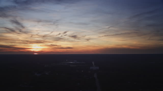 over the new jersey coast at sunset. shot in november 2011. - artbeats stock videos & royalty-free footage