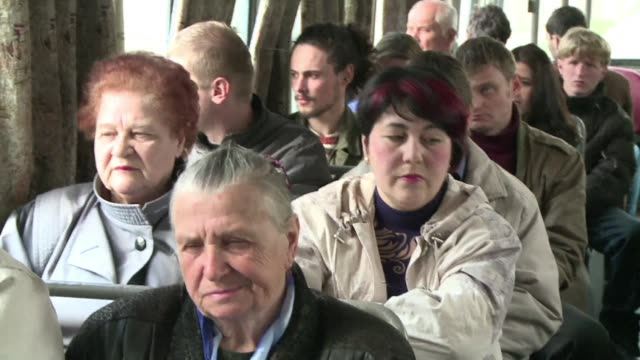over the past fifty five years the trolleybus linking simferopol and yalta in crimea has carried around six billion passengers almost as much as the... - trolleybus stock-videos und b-roll-filmmaterial
