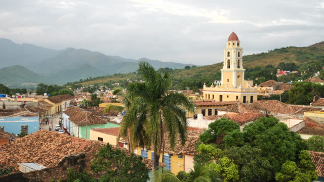over the roofs of trinidad - cuba stock videos and b-roll footage