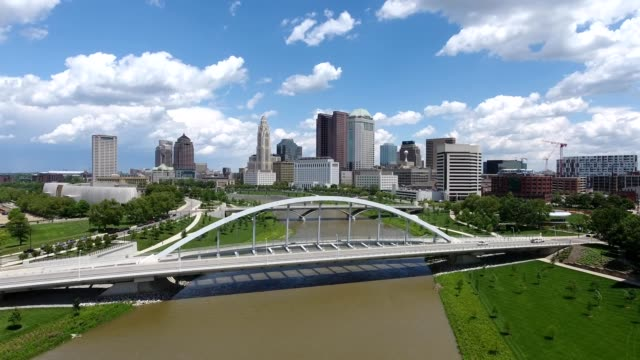 over the scioto river - ohio stock videos & royalty-free footage