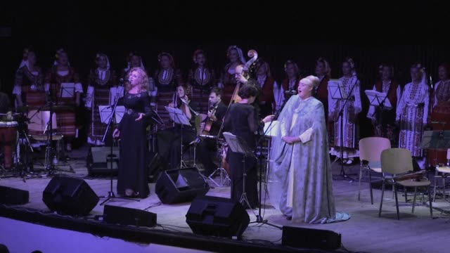 over twenty years after their last release bulgaria's grammy winning folk choir the mystery of the bulgarian voices returned last month with an album... - a capella stock videos & royalty-free footage