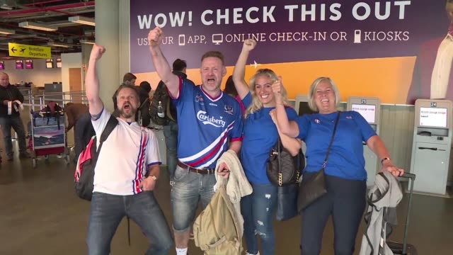 overbooked flights, sold out jersey stores and a feverish countdown to sunday it's all things football in iceland right now as their national team... - sold out stock videos & royalty-free footage