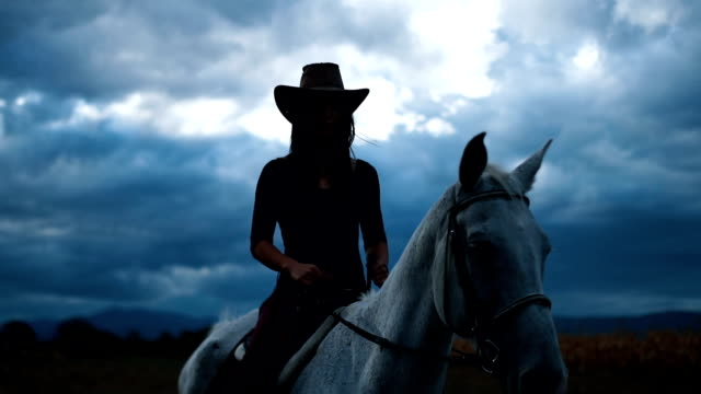 overcast day and riding horse - rancher stock videos and b-roll footage