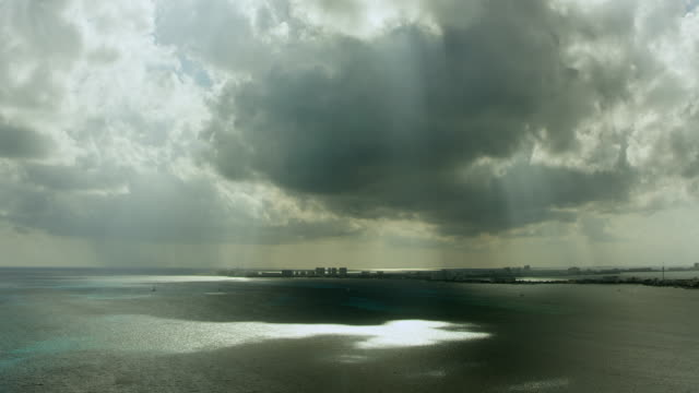 overcast sky over bay at cancun - cancun stock videos & royalty-free footage
