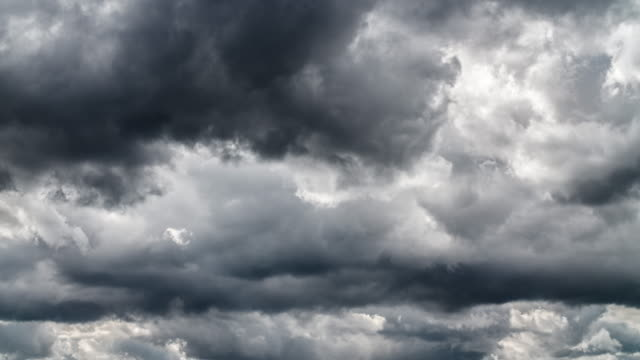 overcast sky with rain clouds - storm cloud stock videos & royalty-free footage