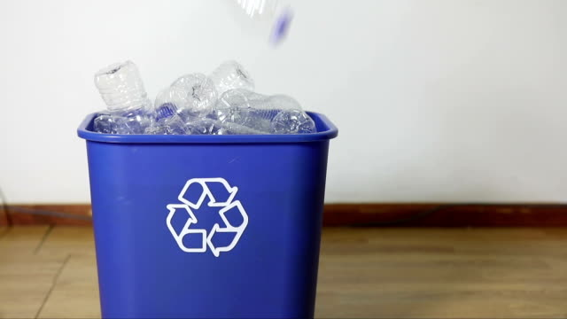 overflowing recycling bin - overflowing stock videos & royalty-free footage