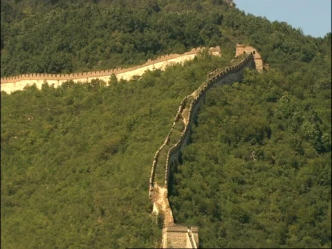 wa overgrown and decaying section of great wall of china, mutianyu, china - mutianyu stock videos & royalty-free footage