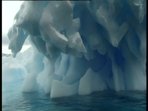overhanging iceberg, paulet island, antarctic peninsula, antarctica - felswand stock-videos und b-roll-filmmaterial