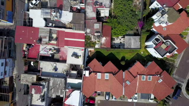 vidéos et rushes de overhead aerial, apartment buildings in mexico city - quartier résidentiel