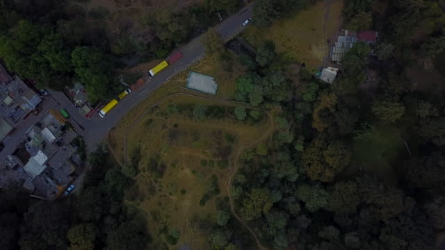 overhead aerial, park in mexico city - zoom in stock videos & royalty-free footage