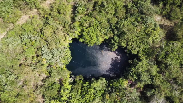 overhead aerial, pond in mexico - pond stock videos & royalty-free footage