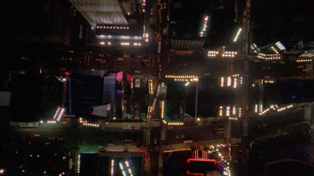 overhead aerial times square at night - 2004 stock videos & royalty-free footage