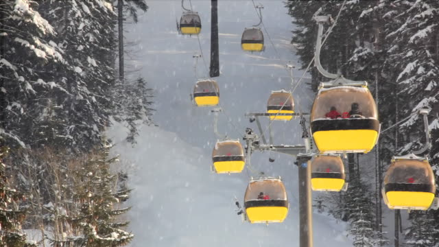 stockvideo's en b-roll-footage met ms overhead cable car, russbach, salzburg, austria - kabelwagen