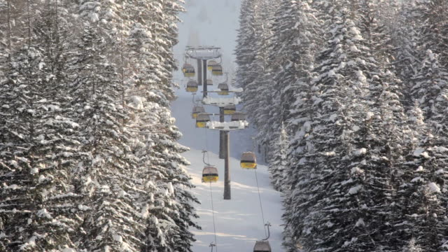ws ha overhead cable car, russbach, salzburg, austria - russbach stock videos and b-roll footage