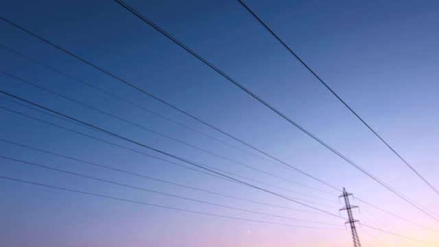 Overhead Cables And Electricity Pylons