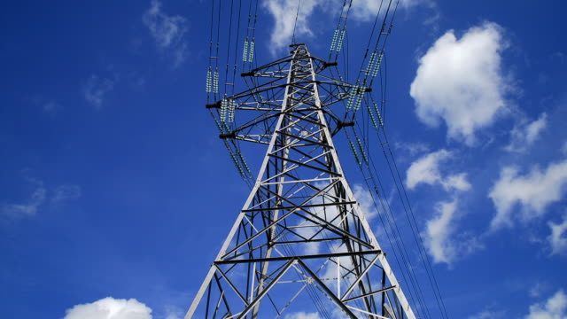 overhead electricity power line. - electricity pylon stock videos & royalty-free footage