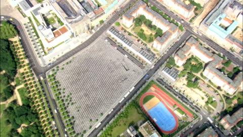 overhead memorial to the murdered jews of europe  - aerial view - berlin,  berlin,  stadt,  germany - murder victim stock videos & royalty-free footage