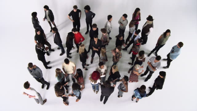 Overhead Shot of a Group of People in a Studio
