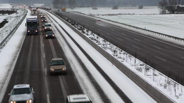 Overhead shot of Autobahn