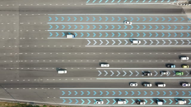 overhead shot of highway traffic - circle stock videos & royalty-free footage