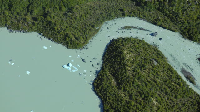 overhead shot of patagonian stream - patagonia chile stock videos and b-roll footage