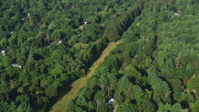 overhead shot of the path of the hultman aqueduct - new england usa stock videos & royalty-free footage