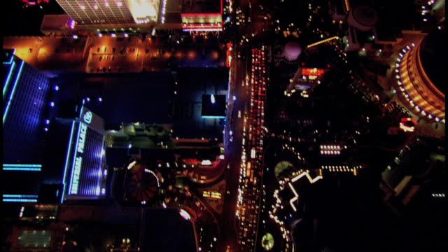 Overhead Shots Of Las Vegas At Night