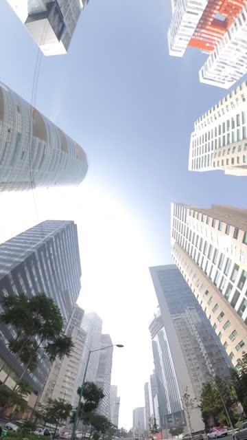 vídeos de stock, filmes e b-roll de overhead vertical modern area of mexico city buildings - ocidentalização