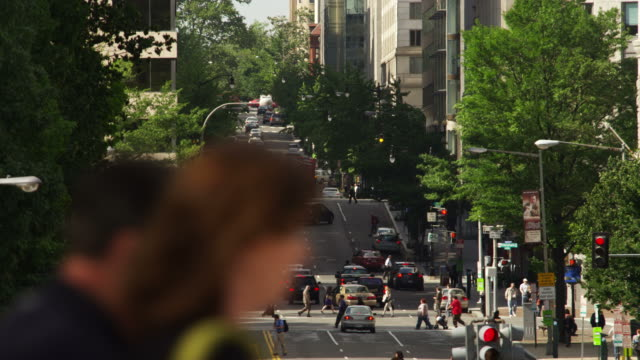 Overhead view of 12th Street at Madison Drive in Washington DC. Shot in May 2012.