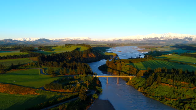 overhead view of canterbury plains. - south stock videos & royalty-free footage