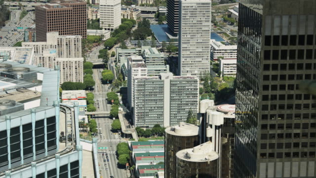Overhead View of DTLA Office Buildings