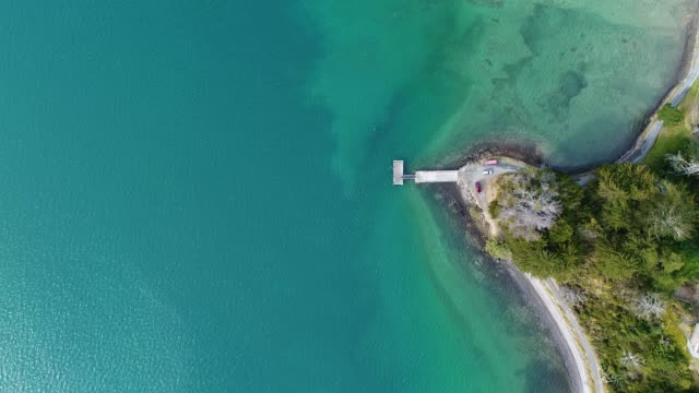 overhead view of whangarei heads. - new zealand culture stock videos & royalty-free footage