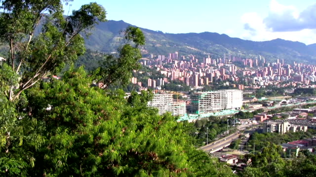 hd: overlooking medellin - medellin colombia stock videos & royalty-free footage
