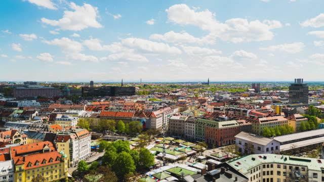 T/L overlooking Munich's famous Viktualienmarkt on a beautiful sunny day