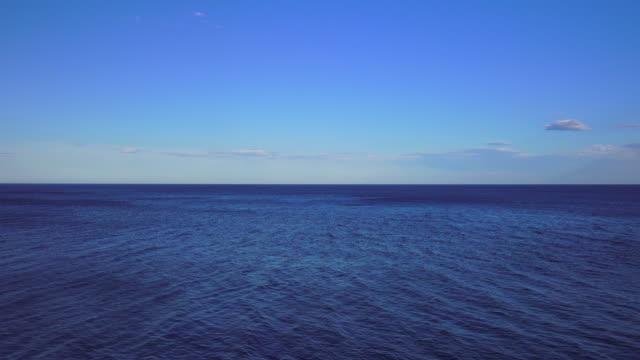 overlooking the sea in monemvasia, peloponnese, greece - horizon over water stock videos & royalty-free footage