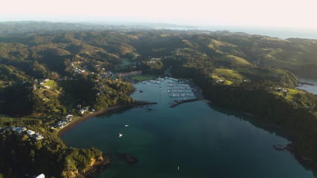 ツツカカ海岸を見下ろす。 - ニュージーランド べイ・オブ・アイランズ点の映像素材/bロール