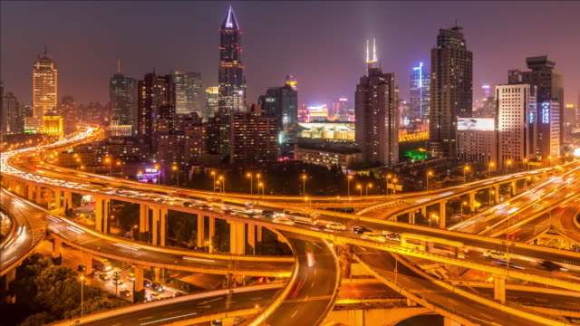 T/L ZO Overpass and skyline, Shanghai, China