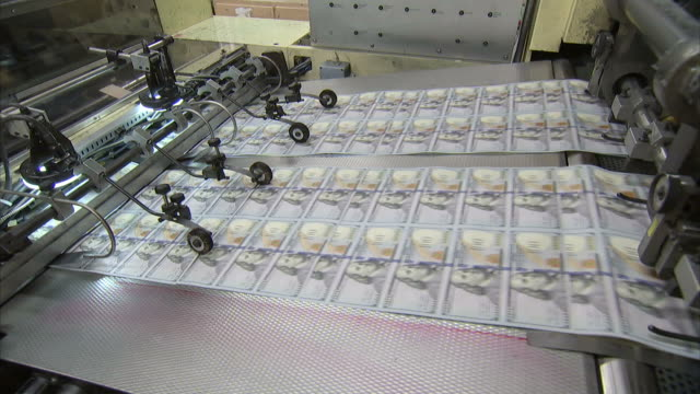 ms overprinting press printing on sheet of one hundred dollar bills / washington d.c., washington d.c., united states - money press stock videos and b-roll footage