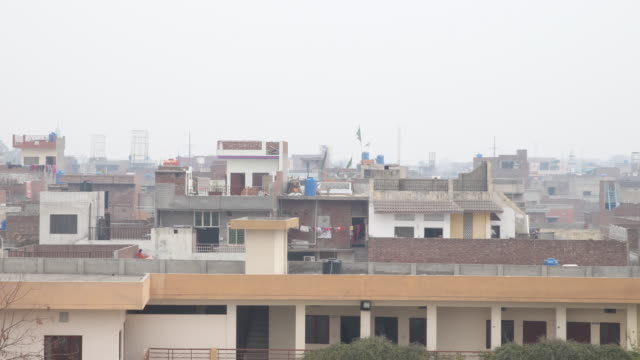 Overview of Lahore with minaret