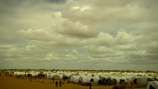 Overview of refugee camp on July 30 2011 in Dadaab Kenya