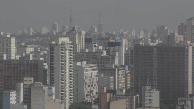 vídeos de stock, filmes e b-roll de sts_sp_centro_033 overview of sao paulo downtown - distrito financeiro