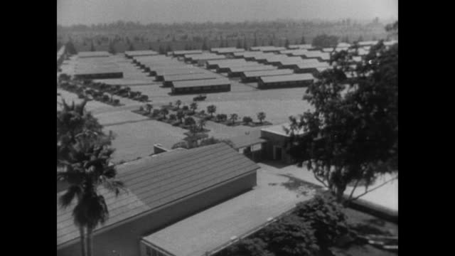 overview of the layout of american internment camp for japanese during wwii - prison camp stock videos & royalty-free footage