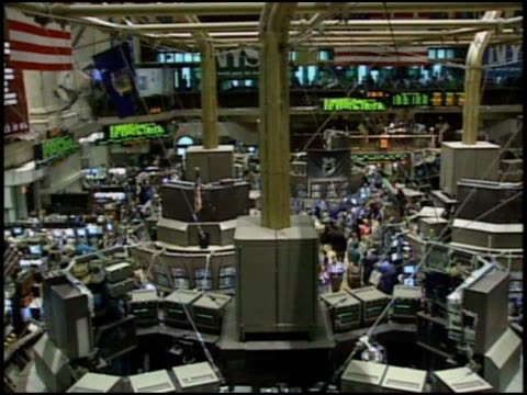 overview of the nyse - new york stock exchange bildbanksvideor och videomaterial från bakom kulisserna