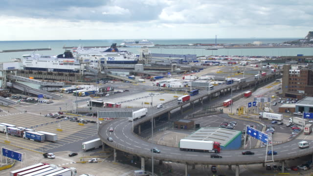 overview of the port of dover - global politics stock videos & royalty-free footage