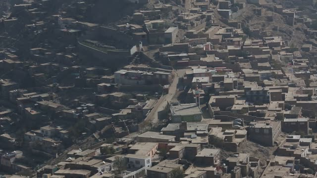 overviews from the neighborhood of karte sakhi in kabul, afghanistan, saturday, october 31, 2015 a year after the formation national unity government... - kabul stock videos & royalty-free footage