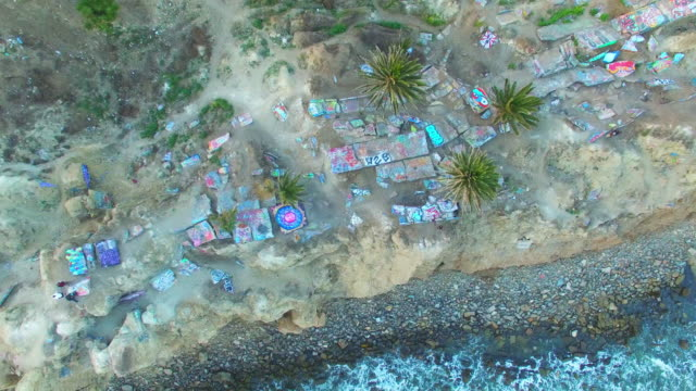 Overviews of the Sunken City area of the Long Beach Coastline.